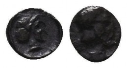 Greek Obol, Ca. 350-300 BC. AR Condition: Very Fine  Weight: 0,11 gram Diameter: 10 mm