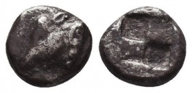 Greek Obol, Ca. 350-300 BC. AR Condition: Very Fine  Weight: 0,89 gram Diameter: 10 mm