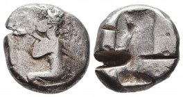 Persia. Achaemenid Empire. Time of Xerxes II to Artaxerxes II circa 420-375 BC. Siglos AR Condition: Very Fine  Weight: 5,53 gram Diameter: 10 mm