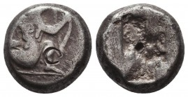 Persia. Achaemenid Empire. Time of Xerxes II to Artaxerxes II circa 420-375 BC. Siglos AR Condition: Very Fine  Weight: 5,43 gram Diameter: 10 mm