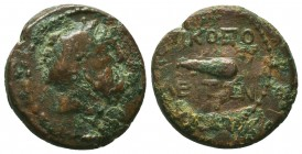 Greek Coin, Circa 166-67 BC. Ae. Condition: Very Fine  Weight: 6,59 gram Diameter: 20 mm