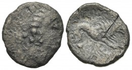 Celtic, Southern Gaul. Insubres, 2nd century BC. AR Drachm (15mm, 1.75g, 9h). Imitating Massalia. Head of nymph r. R/ Lion standing r. Cf. CCCBM II 18...