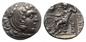 Celtic, Eastern Europe, c. 3rd century BC. AR Drachm (18mm, 4.01g, 12h). Imitating Alexander III of Macedon, Chios mint. Head of Herakles r., wearing ...