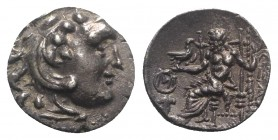 Celtic, Eastern Europe, c. 3rd century BC. AR Drachm (17mm, 3.83g, 12h). Imitating Alexander III of Macedon, Chios mint. Head of Herakles r., wearing ...