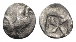 Sicily, Himera, c. 530-483/2 BC. AR Litra (10mm, 0.68g). Cock standing r. R/ Mill-sail incuse. SNG ANS 144; HGC 2, 426. About VF