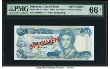 Bahamas Central Bank 10 Dollars 1974 (ND 1992) Pick 53s Specimen PMG Gem Uncirculated 66 EPQ.   HID09801242017  © 2020 Heritage Auctions | All Rights ...
