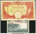 Belgian Congo Banque du Congo Belge 10 Francs 11.11.1948 Pick 14E Very Fine; French West Africa Banque de l'Afrique Occidentale 100 Francs 13.11.1924 ...