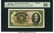 Brazil Banco do Brasil 20 Mil Reis 1923 Pick 116fp / 117fp Front Proof PMG Gem Uncirculated 66 EPQ.   HID09801242017  © 2020 Heritage Auctions | All R...