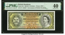 British Honduras Government of British Honduras 10 Dollars 1.4.1964 Pick 31b PMG Extremely Fine 40.   HID09801242017  © 2020 Heritage Auctions | All R...