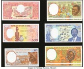Central African States Group Lot of 8 Examples Crisp Uncirculated.   HID09801242017  © 2020 Heritage Auctions | All Rights Reserved
