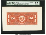 El Salvador Banco Agricola Comercial 100 Pesos 189x Pick S105fp Proof PMG Uncirculated 62. A tear is noted.  HID09801242017  © 2020 Heritage Auctions ...