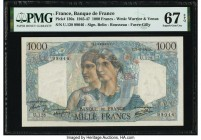 France Banque de France 1000 Francs 22.11.1945 130a PMG Superb Gem Unc 67 EPQ.   HID09801242017  © 2020 Heritage Auctions | All Rights Reserved