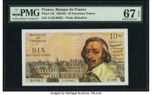 France Banque de France 10 Nouveaux Francs 7.12.1961 Pick 142 PMG Superb Gem Unc 67 EPQ.   HID09801242017  © 2020 Heritage Auctions | All Rights Reser...
