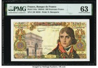 France Banque de France 100 Nouveaux Francs 3.12.1959 Pick 144a PMG Choice Uncirculated 63. Minor rust at staple holes.  HID09801242017  © 2020 Herita...