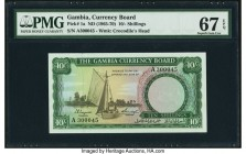 Gambia The Gambia Currency Board 10 Shillings ND (1965-70) Pick 1a PMG Superb Gem Unc 67 EPQ.   HID09801242017  © 2020 Heritage Auctions | All Rights ...