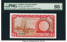 Gambia The Gambia Currency Board 1 Pound ND (1965-70) Pick 2a PMG Gem Uncirculated 66 EPQ.   HID09801242017  © 2020 Heritage Auctions | All Rights Res...