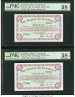 Guernsey States of Guernsey 10 Shillings 1.7.1966 Pick 42c Two Consecutive Examples PMG Choice About Unc 58 EPQ (2).   HID09801242017  © 2020 Heritage...