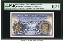 Guernsey States of Guernsey 5 Pounds ND (1969-75) Pick 46b PMG Superb Gem Unc 67 EPQ.   HID09801242017  © 2020 Heritage Auctions | All Rights Reserved...