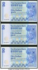 Hong Kong Chartered Bank 50 Dollars 1.1.1979 Pick 78a 3 Consecutive Examples About Uncirculated. Staining on one example.  HID09801242017  © 2020 Heri...