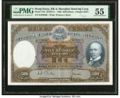 Hong Kong Hongkong & Shanghai Banking Corp. 500 Dollars 11.2.1968 Pick 179e KNB71 PMG About Uncirculated 55.   HID09801242017  © 2020 Heritage Auction...