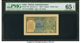 India Government of India 1 Rupee 1935 Pick 14b Jhun3.2.1A PMG Gem Uncirculated 65 EPQ.   HID09801242017  © 2020 Heritage Auctions | All Rights Reserv...