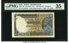 India Government of India 10 Rupees ND (1928-35) Pick 16b Jhun3.8.2 PMG Choice Very Fine 35. Staple holes at issue.   HID09801242017  © 2020 Heritage ...