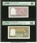 India Reserve Bank of India 2 Rupees ND (1937) Pick 17a Jhun4.2.1 PMG Extremely Fine 40. India Reserve Bank of India 5 Rupees ND (1943) Pick 18b Jhun4...