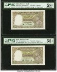 India Reserve Bank of India 5 Rupees ND (1937) Pick 18a Jhun4.3.1 Two Consecutive Examples PMG About Uncirculated 55 EPQ; Choice About Unc 58 EPQ. Sta...