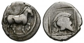 KINGDOM OF MACEDONIA. Tetrobolus. (Ar. 2.01g \/ 14mm). 498-454 BC (HGC 3.1, 773; SNG ANS 29). F\/ VG.