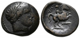 KINGS OF MACEDONIA, Philip II. Be20. (Ae. 5.80g \/ 20mm). 359-336 BC Macedonian mint uncertain. (SNG ANS 850.1). F.