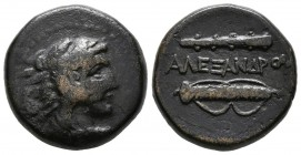 KINGS OF MACEDONIA, Alexander III. Be18. (Ae. 6.99g \/ 18mm). 336-323 BC Macedonian mint uncertain. (Price 266). F.