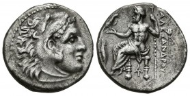 KINGS OF MACEDONIA, Alexander III. Drachma (Ar. 4.01g \/ 18mm). 336-323 BC Magnesia. (Price 1951). VF.