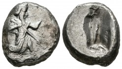 KINGS OF SYRIA, Xerxes II. Shekel. (Ar. 5.60g \/ 32mm). 485-420 BC (SNG Copenhagen 280). VF.