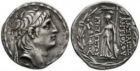 KINGS OF SYRIA, Antiocos VIII. (Ar. 16.12g \/ 30mm). 138-129 BC Antioch. Ob: Diademic bust to the right of Antiocos VIII. Rev: Atenena shelf to the le...