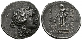 THRACIA, Maroneia. Tetradrachm. (Ar. 16.47g \/ 32mm). 189 \/ 8-49 \/ 5 BC (Sch\u00f6nert-Geiss 1196). XF\/ VF. Nice dark patina and slight iridescent ...