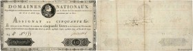 Country : FRANCE  Face Value : 50 Livres   Date : 30 avril 1792  Period/Province/Bank : Assignats  Catalogue reference : Ass.28a  Additional reference...