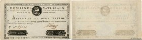 Country : FRANCE  Face Value : 200 Livres Faux  Date : 31 août 1792  Period/Province/Bank : Assignats  Catalogue reference : Ass.33a  Additional refer...