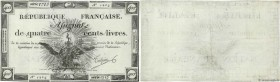 Country : FRANCE  Face Value : 400 Livres   Date : 21 novembre 1792  Period/Province/Bank : Assignats  Catalogue reference : Ass.38a  Additional refer...