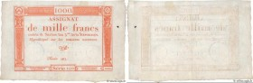 Country : FRANCE  Face Value : 1000 Francs   Date : 07 janvier 1795  Period/Province/Bank : Assignats  Catalogue reference : Ass.50a  Additional refer...