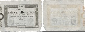 Country : FRANCE  Face Value : 10000 Francs   Date : 07 janvier 1795  Period/Province/Bank : Assignats  Catalogue reference : Ass.52a  Additional refe...