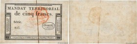 Country : FRANCE  Face Value : 5 Francs Monval cachet rouge   Date : 18 mars 1796  Period/Province/Bank : Assignats  Catalogue reference : Ass.63c  Ad...