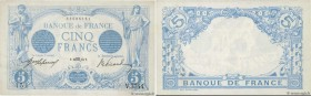 Country : FRANCE  Face Value : 5 Francs BLEU   Date : 16 octobre 1913  Period/Province/Bank : Banque de France, XXe siècle  Catalogue reference : F.02...