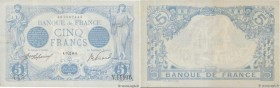 Country : FRANCE  Face Value : 5 Francs BLEU   Date : 17 mai 1916  Period/Province/Bank : Banque de France, XXe siècle  Catalogue reference : F.02.39 ...