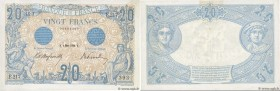 Country : FRANCE  Face Value : 20 Francs BLEU   Date : 06 mars 1906  Period/Province/Bank : Banque de France, XXe siècle  Catalogue reference : F.10.0...