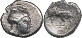 Lucania - Thourioi AR Triobol (circa 350-300 BC)