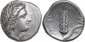 Lucania - Metapontion AR Nomos - (circa 330-290 BC)