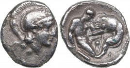 Calabria - Tarentum AR Diobol - (circa 325-280 BC)