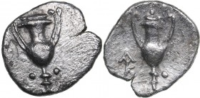 Calabria - Tarentum AR Obol (circa 280-228 BC)