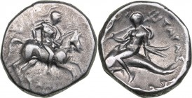 Calabria - Tarentum AR Didrachm or nomos - (circa 272-240 BC)