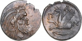 Bosporus Kingdom, Pantikapaion Æ tetrachalcon (Circa 310-304/3 BC)